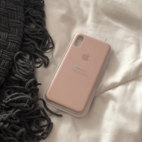 check out 7a8e8 9be94 iphone X pink sands silicone case— FROM APPLE ! NWT